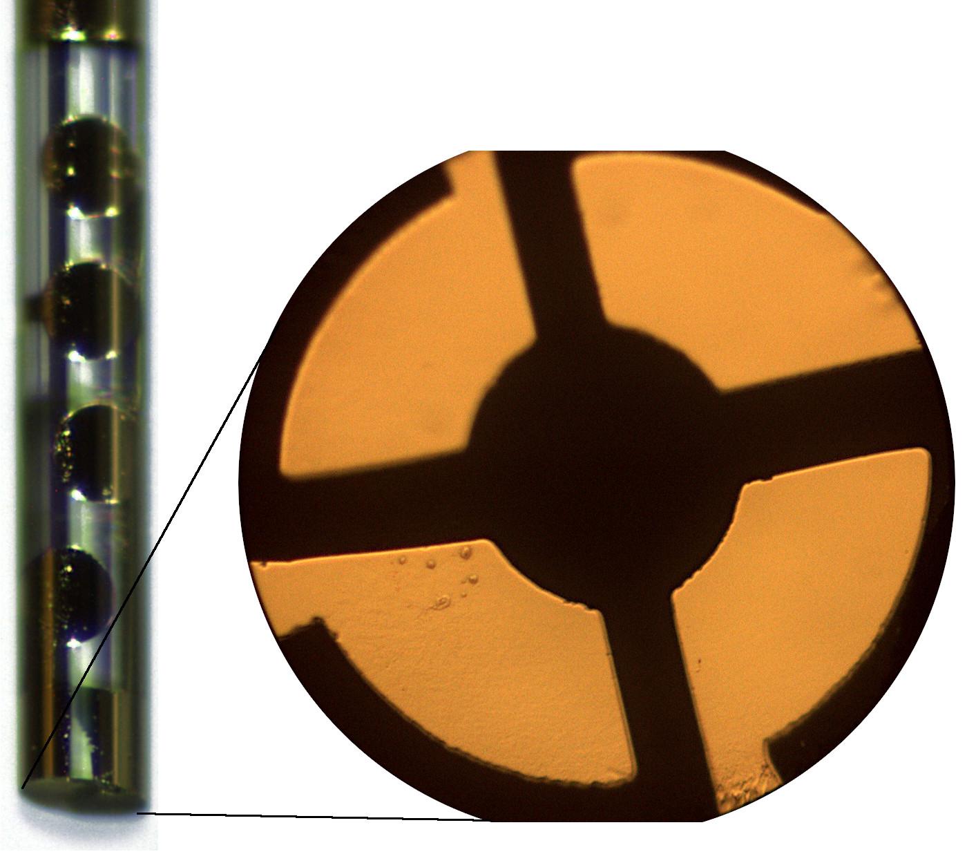 Elektroden auf Glasfaser