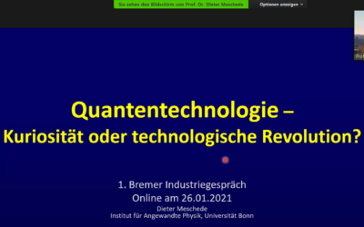 DPG Industry Talk with Dieter Meschede