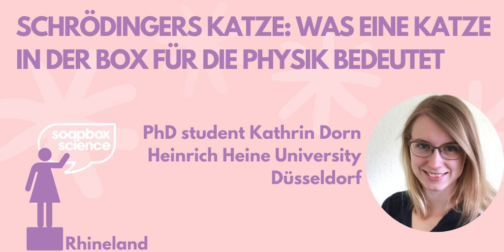 Science on the run – Kathrin Dorn talks about Schrödinger's Cat at Soapbox Science